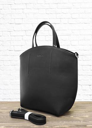 Женская сумка oval. черная.
