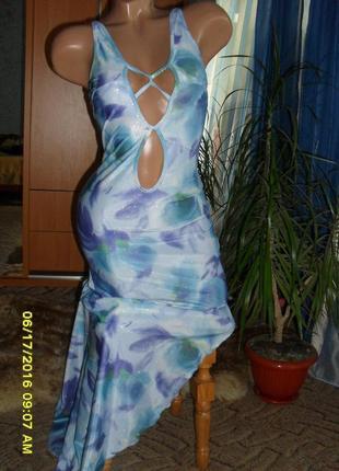 Платье в пол с асимметричным низом ( обалденное )