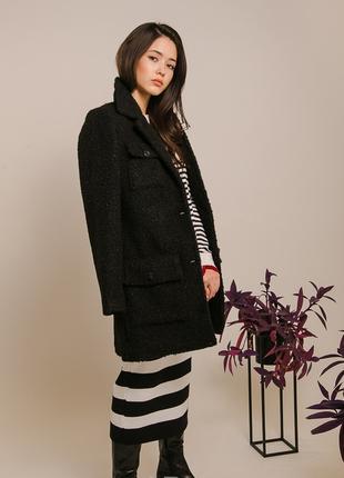 Модное женское пальто из мягкой пушистой ткани S M L