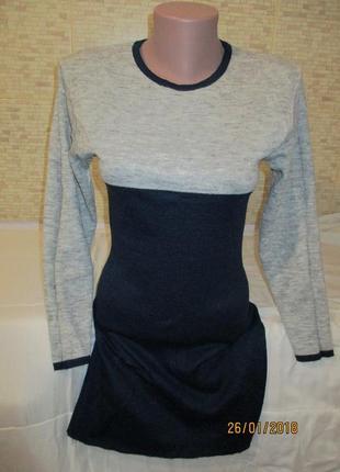 Тёплое мини-платье или туника в составе шерсть