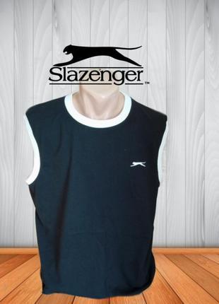 ✨✨slazenger мужская футболка безрукавка черная с белым xxl инд...