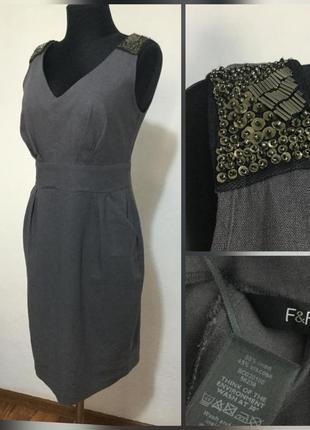 Фирменное базовое натуральное льняное платье сарафан, лён супе...