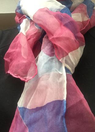 Шелковый невесомый шарф