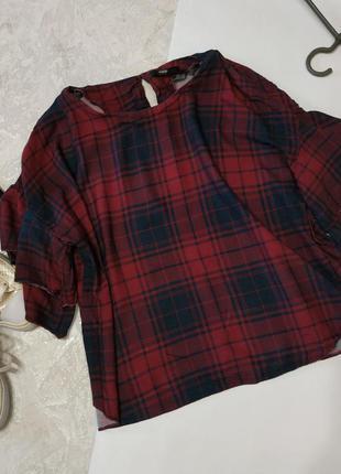 Блуза свободного кроя 100% вискоза
