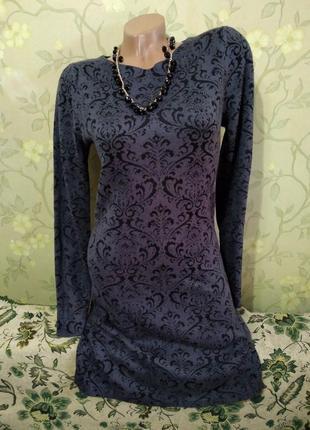 Тёплое миди-платье с набивным узором от monsoon
