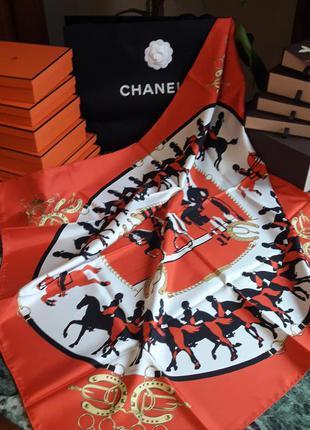 Винтажный коллекционный платок/carre hermes manege!100% оригинал!