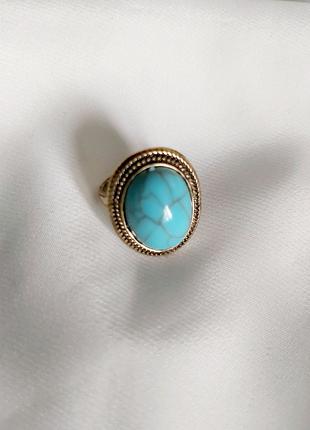 Винтажное кольцо СССР женское бирюза