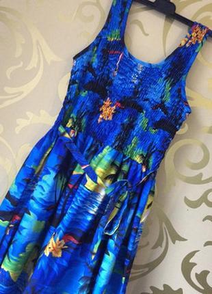 Платье-миди с морским принтом