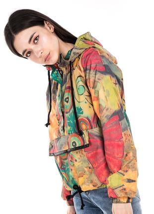 """Женская куртка """"анорак"""" с плащевки S M L"""