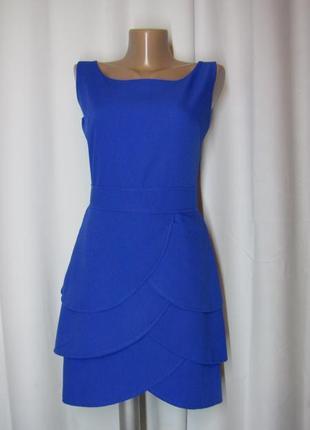 Изумительное платье лепестки глубокого синего цвета