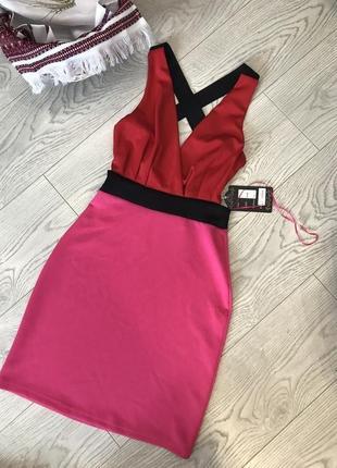 Вечернее эффектное миди-платье с открытой спинкой от urban bliss