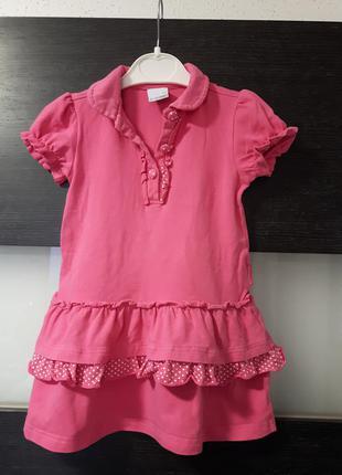 Розовое платье для девочки coccodrillo