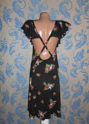 Летнее лёгкое вискозное платье с открытой спинкой