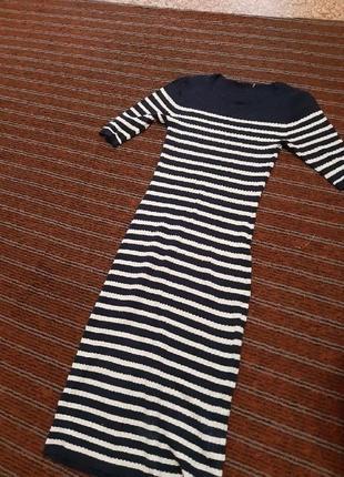 Актуальное платье-миди в рубчик от next