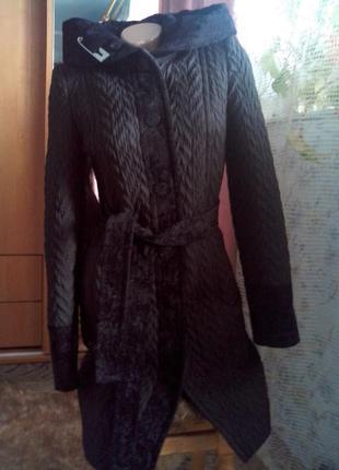 Стёганое пальто-деми