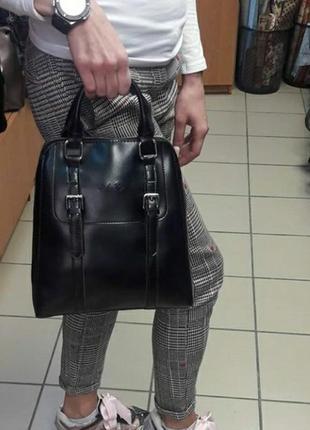 Рюкзак кожаный шкіряний портфель жіночий женский сумка кожаная