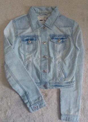 Пиджак джинсовый размер 6-8 new look