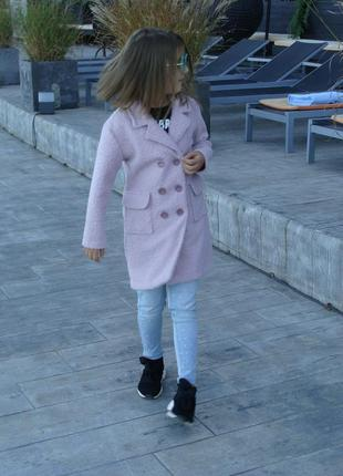 Детское пальто softness, цвет розовый