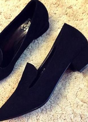Туфли из эко-замша