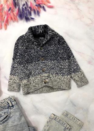 Теплый красивый свитер f&f 3-4 года