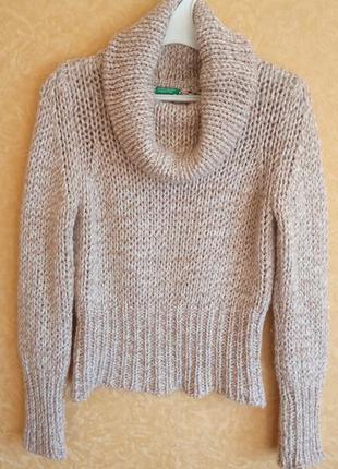 Укороченный свитер с хомутом/крупная вязка/распродажа