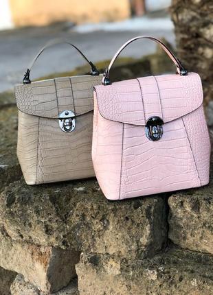 Красивые рюкзак-сумки из натуральной кожи. новая коллекция!!!