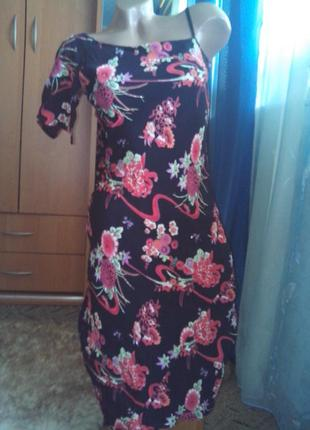 Платье в цветы от oasis, асимметричное