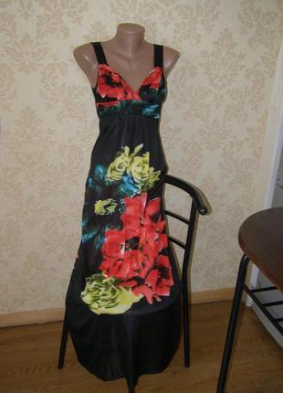 Платье в пол, летнее, яркое