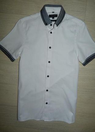 Белая рубашка, тенниска, поло river island размер xxs