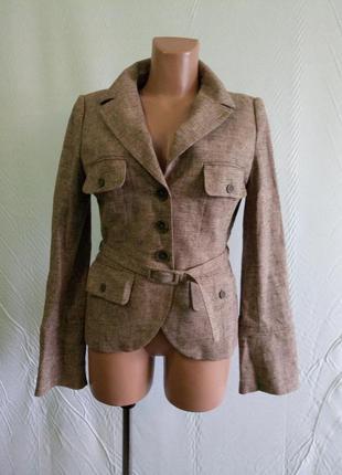 Пиджак жакет льняной h&m , р. 44