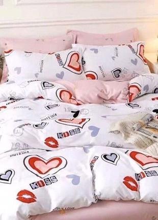 """Двухспальное постельное белье из Бязи Голд""""розовые сны"""""""