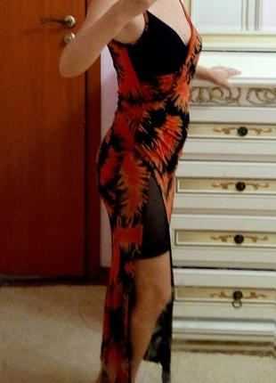 Вечернее обольстительное платье с сеткой
