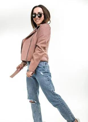 Модная женская куртка-косуха