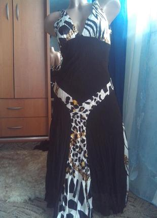 Платье-миди летнее