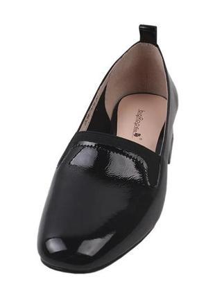 Удобные женские туфли  big rope натуральная лаковая кожа