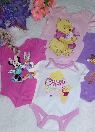 Набор бодиков фирмы Disney для девочки на 0-6 месяцев