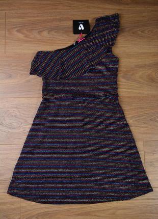 Платье через одно плечо 11-12 лет   бренд v by very англия