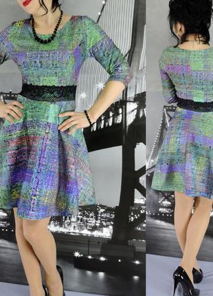 Симпатичное платье с кружевом