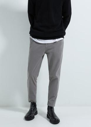 Мужские укорочённые брюки чинос zara