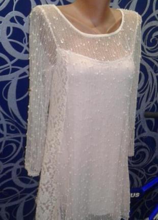 Нежное вечернее платье с сеткой