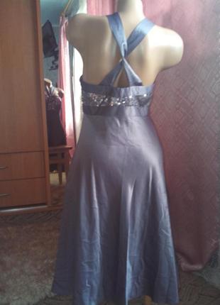 Вечернее блестящее платье-миди с паетками от debenhams
