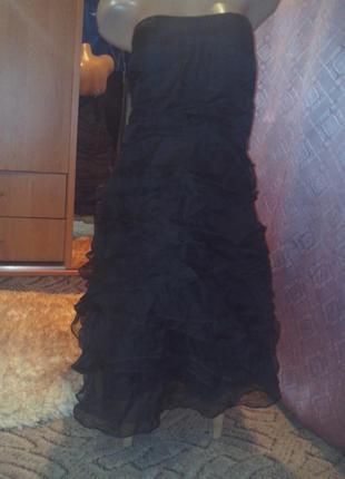 Обалденное пышное платье-бюстье из органзы