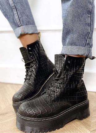 Ботинки из эко кожи.