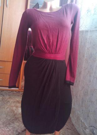 Комбинированное тёплое платье-миди, в составе ангора от per una