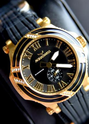 Женские часы с бриллиантами 22 шт. aquaswiss швейцарские.