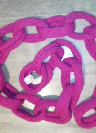 """Классный шарф """"цепочка"""" от веnetton, в составе шерсть"""