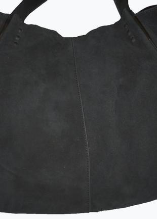 Стильная большая сумка натуральная замшевая кожа zara