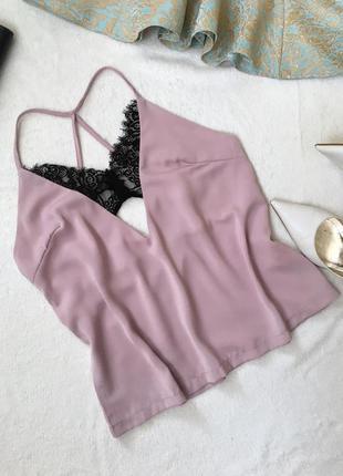 Блуза на бретелях в бельевом стиле майка missguided