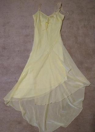 Нежнейшее шифоновое вечернее платье с асимметричным низом от n...