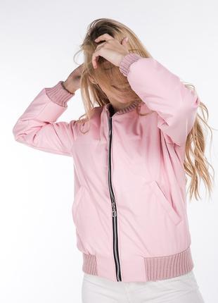модная женская куртка с металлическим блеском M L